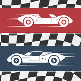 Two race cars Stock Images