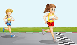 Two racers. Illustration of the two racers Royalty Free Stock Photography