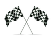 Two racing flags Stock Images