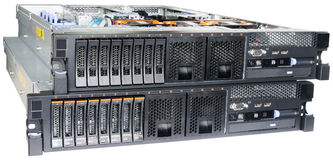 Two rack mount servers. Isolated on the white Royalty Free Stock Photos
