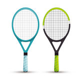 Two racket tennis sport graphic Stock Photos
