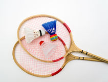 Two rackets for badminton Royalty Free Stock Photo