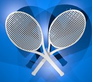 Two rackets Royalty Free Stock Photos