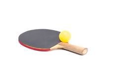 Two rackets for playing table tennis Stock Photos