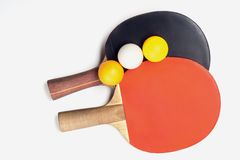 Two rackets for playing table tennis Royalty Free Stock Photo