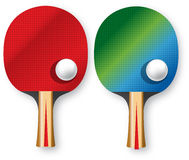 Two rackets for table tennis Stock Photography