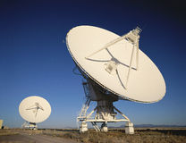 Two radio telescope dishes Stock Photography
