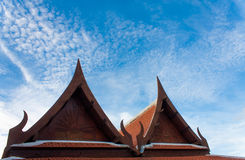 Two raditional thai roof classic style Stock Photography