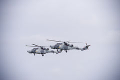 Two RAF helicopters Royalty Free Stock Photography