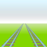 Two rails vector perspective way concept Royalty Free Stock Image