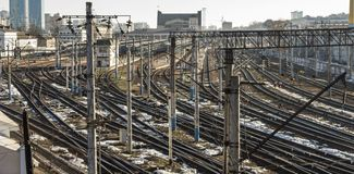 Two Railway pointwork, railway tracks Stock Photography