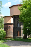 Two railway water towers (1890 and 1907). City Gusev, Kaliningra Stock Photography