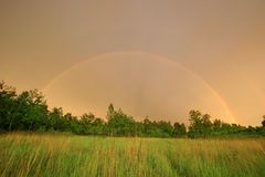 Two rainbows Royalty Free Stock Photography