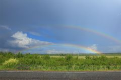 Two rainbows Stock Photos