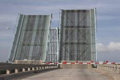 Two raised drawbridges Royalty Free Stock Images