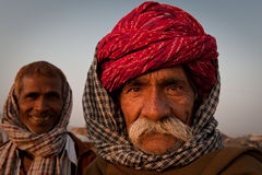 Two rajasthani men royalty free stock photos
