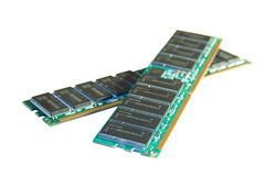 Two RAM modules Stock Image