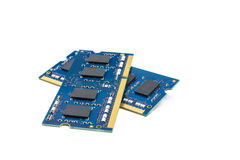 Two RAM modules. On top of each other Stock Photography