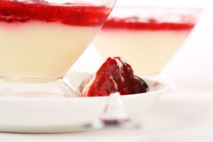 Two raspberry desserts Stock Image