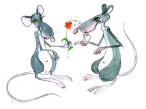 Two rats Royalty Free Stock Photography
