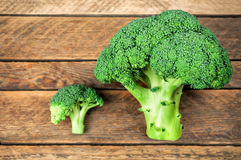 Two raw broccoli Royalty Free Stock Photo