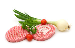 Two raw minced beef steak Royalty Free Stock Photography
