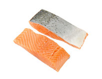 Two raw salmon fillets Stock Photos