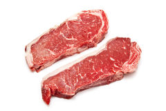 Two Raw Sirloin Steaks Royalty Free Stock Photography