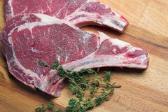 Two raw steaks Royalty Free Stock Image