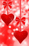 Two read hearts royalty free stock photography