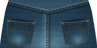 Two rear denim pocket Royalty Free Stock Photography