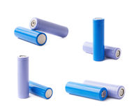 Two rechargeable batteries composition Royalty Free Stock Photo