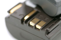 Two rechargeable battery Royalty Free Stock Images