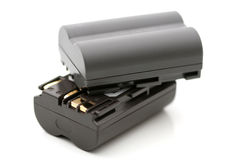 Two rechargeable battery Royalty Free Stock Image