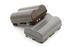 Two rechargeable camera accumulators Stock Images
