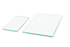Two rectangular sheet of glass Royalty Free Stock Photo