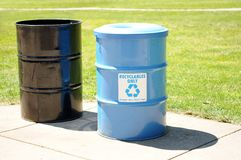 Two recycle bins Royalty Free Stock Photos