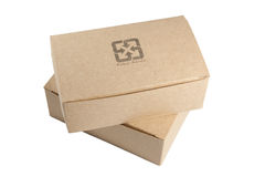 Two recycled paper boxes Stock Photography