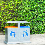 Two recycling bin Stock Photography