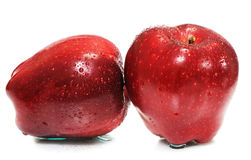 Two Red Apple Royalty Free Stock Photo