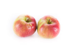 Two Red apple isolated on white Stock Photo