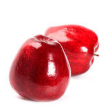 Two red apples Royalty Free Stock Photos
