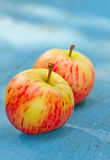 Two red apples Stock Photography