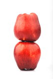 Two red apples. On white background Royalty Free Stock Images