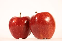 Two Red Apples Stock Images