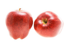 Two red apples Stock Photo