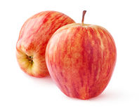 Two red apples isolated Stock Photo