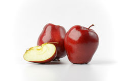 Two red apples Royalty Free Stock Images