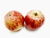 Two red apples Royalty Free Stock Image