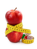 Two red apples and tape measure Royalty Free Stock Image
